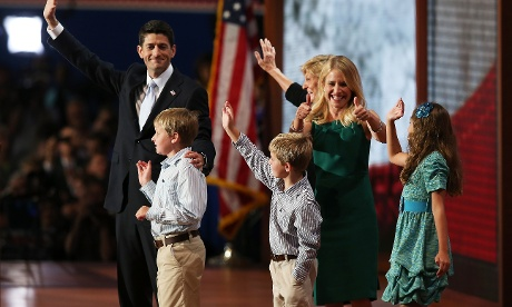 Paul Ryan with family at end of speech
