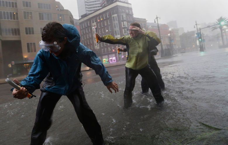 Hurricane Isaac makes landfall in New Orleans