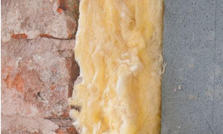 Cavity wall insulation cross section