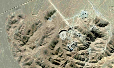 Satellite photo of what is believed to be a uranium-enrichment facility near Qom.