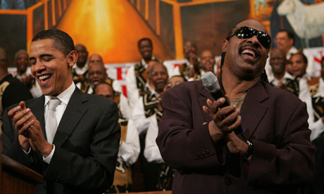 Performing for Democratic presidential hopeful Barack Obama, 2007.
