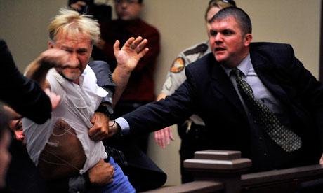 US military courtroom brawl