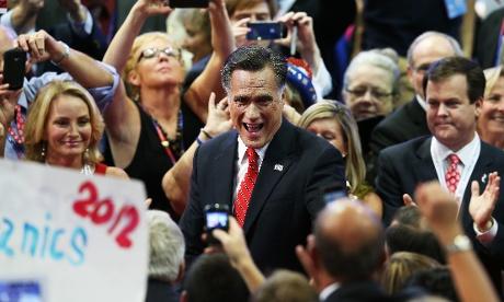 Mitt Romney takes RNC floor