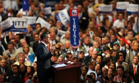 Mitt Romney Republican national convention speech.