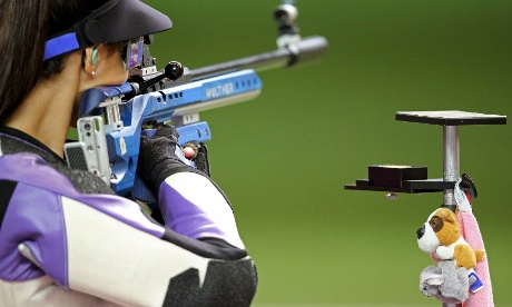 Serbia's Ivana Maksimovic during the Women's 50m rifle qualification.