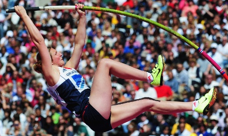 Holly Bleasdale of Great Britain in the Women's pole vault