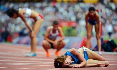 Ukrainian runner Valentyna Horpynych Zhudina