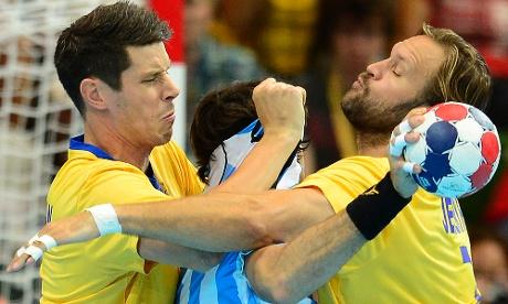 Argentina v Sweden handball match
