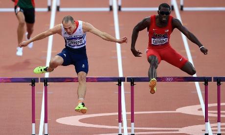 Great Britain's Dai Greene finishes fourth