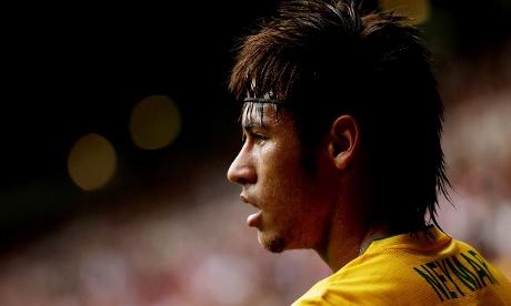 Brazil's Neymar takes a breather