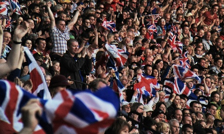 The Britons in the crowd went wild as the Team GB medal tally went up.