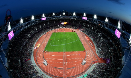A packed Olympic stadium as Super Saturday heads towards it's climax