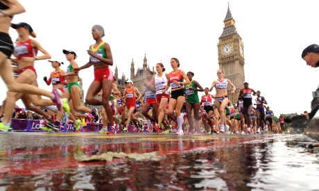 second frame of the Olympic women marathon runners