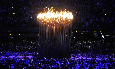 London 2012 opening ceremony flame