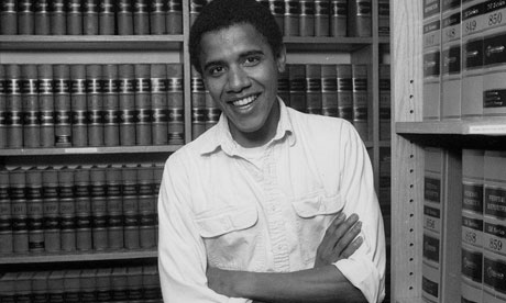Barack Obama as a student at the school in Cambridge, Massachusetts