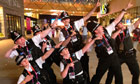 Police strike Usain Bolt pose