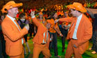 Dutch Olympic fans party at the Holland Heineken House in Alexandra Palace