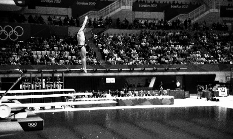roy Dumais of the United States competing in the Men's 3m Springboard