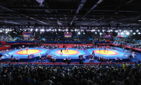 Greco-Roman wrestling at ExCeL