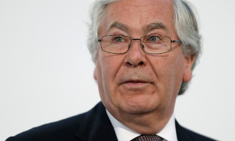 Sir Mervyn King, governor of the Bank of England,