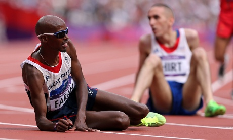 LONDON, ENGLAND - AUGUST 08:  Mo Farah after winning his the men's 5000m Round 1 heat. Photograph: Streeter Lecka/Getty Images