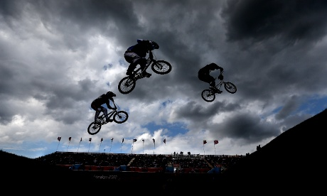 Olympic BMX Men's Seeding Run. Photograph: Mark Aspland/NOPP