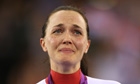 Champion tears … Victoria Pendleton is overcome on winning gold.