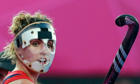 Great Britain's Ashleigh Ball looks on during their 2-1  semi-final defeat to Argentina in the women's hockey.
