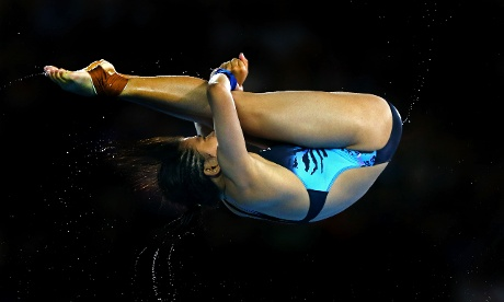 Vivien Traisy Tukiet of Malaysia competes in the Women's 10m Platform Diving Preliminary.