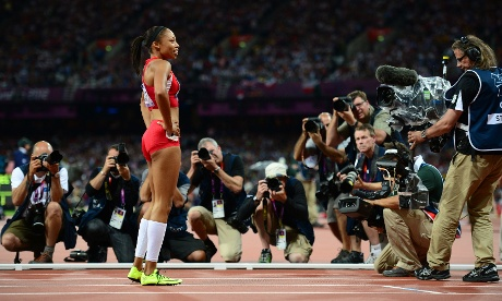 n the Women's 200m it was a case of third time lucky for the US's Allyson Felix, a silver medallist at the 2004 and 2008 Games over the distance, as she powered to victory in 21.88sec.