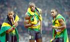 Usain Bolt after wining the 200m final