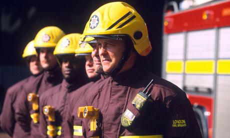 British firefighter uniform