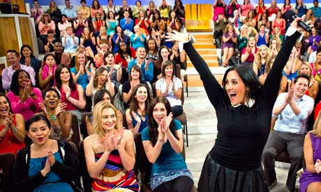 day of taping for her new daytime talk show. Photograph: Barry J