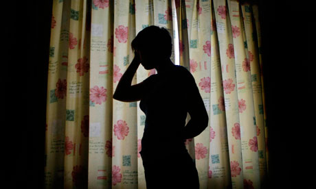 A silhouette of a child