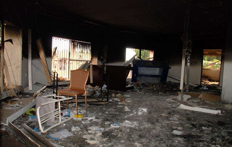 Libya Attack Images us Embassy Attacked in Libya