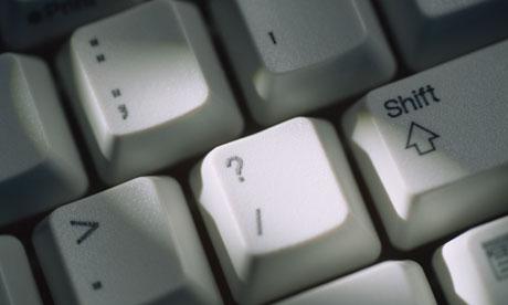 Computer keyboard questionmark key