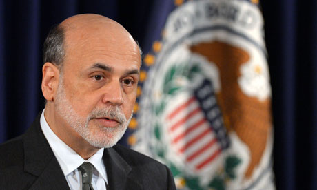 US Federal Reserve chief Ben Bernanke sp