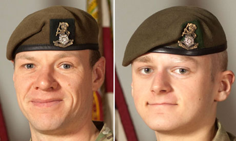 Sergeant Gareth Thursby and Private Thomas Wroe
