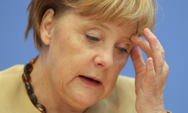 German Chancellor Angela Merkel speaks to the media on September 17, 2012 in Berlin, Germany.
