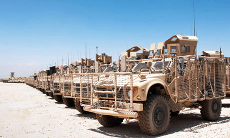 US military vehicles in Afghanistan