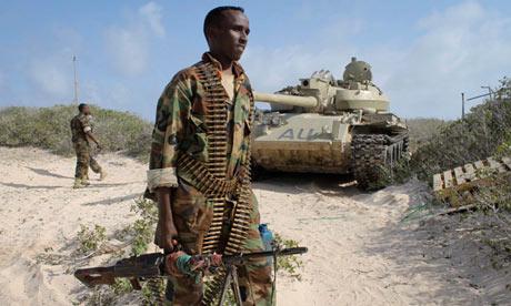 Somali soldier near El-Ma'an