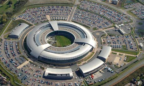 Aerial view of Britain's Government Communications Headquarters (GCHQ) in Cheltenham