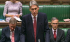 The defence secretary, Philip Hammond, speaks in the Commons on Nato's Afghanistan strategy