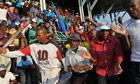 Marikana miners celebrate