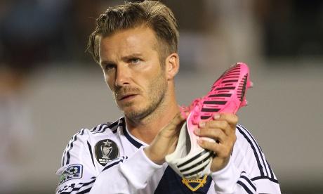 David Beckham LA Galaxy pink boot