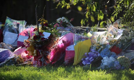 Floral tributes near shooting scene