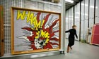Whaam! by Roy Lichtenstein in Tate Modern's storage warehouse