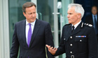 David Cameron and Peter Fahy of Greater Manchester police