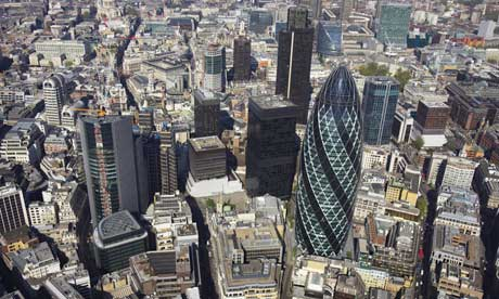 City of London, aerial view