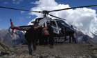 Avalanche rescue at Mount Manaslu